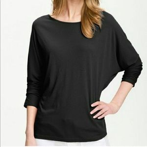 Vince dolman sleeve black blouse top size medium